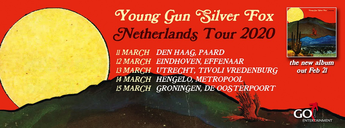 Young Gun Silver Fox banner by tour Canyons